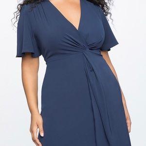 ELOQUII Navy Blue Dress Size 18 NWT